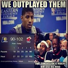 Paul George Memes - paul george outplay heat the world chion don t hate miami