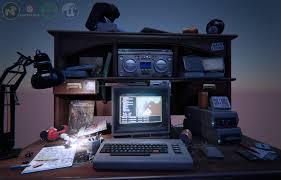 Game Computer Desk by Substance Painter Substance Designer Cad Allegorithmic Fusion