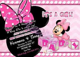 minnie mouse baby shower custom minnie mouse baby shower invitations stephenanuno