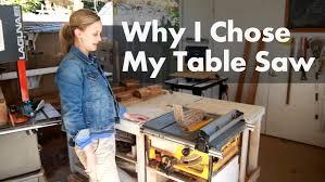 why i chose my dewalt table saw shop update march 2016 youtube