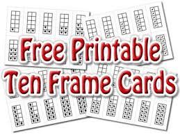 printable ten frame cards including frames and