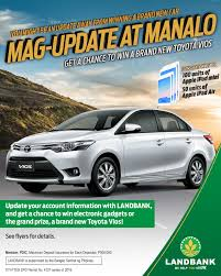 toyota philippines vios mag update at manalo land bank of the philippines