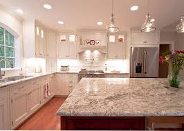 white brick backsplash kitchen contemporary with arched window