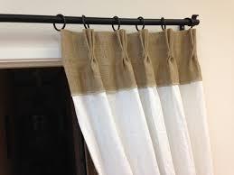 Burlap Grommet Curtains Linen Curtains Burlap Pinch Pleat Panels For Home Decoration Ideas