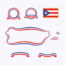 Map Of Puerto Rico by Outline Map Of Puerto Rico Border Is Marked With A Ribbon In