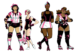 exclusive boom u0027s roller derby themed comic slam