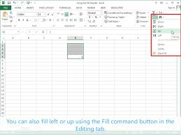 pattern fill download excel using the fill handle excel 2013 tutorial