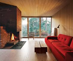 modern brick fireplace dwell 5 cozy scandinavian homes with wood