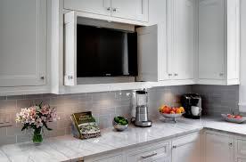 under cabinet television for kitchen cherry wood ginger glass panel door under cabinet kitchen tv
