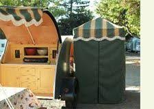 Awnings For Trailers Idea For Awning Tie Down Our Vintage Travel Trailer Pinterest