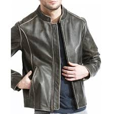leather moto jacket snap tab collar brown leather moto jacket