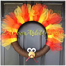 thanksgiving turkey wreath fall wreath yellow and