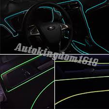Auto Led Light Strips 1m Green Neon Car Led Light Glow El Wire String Strip Tube