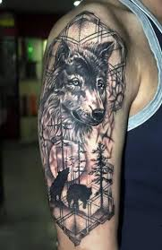 awesome wolf half sleeve idea wolf tattoos and tatoo