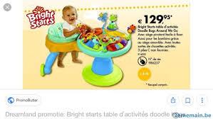 table d activité bébé avec siege table d activité bebe a vendre à soignies casteau 2ememain be