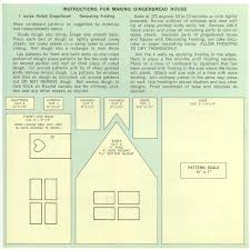 things your grandmother knew gingerbread house recipe u0026 pattern
