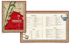 menu templates indesign illustrator publisher word