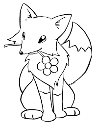 cute baby fox coloring page pages best of baby fox coloring pages