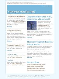 blue email marketing newsletter template free psd files