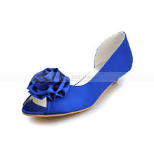 small heel wedding shoes peep toes satin low heel wedding shoes with 3d flowers