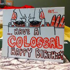 a birthday card i made for a friend shingekinokyojin