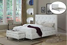 King Upholstered Platform Bed Kings Brand Black Tufted Design Faux Leather King Size Upholstered