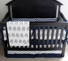Elephant Crib Bedding Sets Elephant Nursery Crib Bedding Set Baby Boy Navy Blue Crib