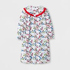 frosty snowman toddler girls u0027 nightgown doll gown white
