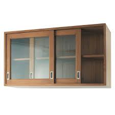 meuble cuisine mural buffet bas 8 portes vitrées acajou blanc halifax astuces