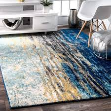 Modern Abstract Rugs Nuloom Modern Abstract Vintage Blue Rug 2 X 3 Free Shipping