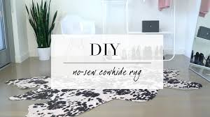 Home Decore Com by Diy Cowhide Inspired Rug Home Decor Ann Le Youtube