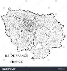 France Region Map by Detailed Map Region Iledefrance France Including Stock Vector