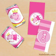 printable princess fairy peppa pig mini candy bar wrappers