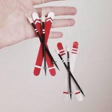 popsicle stick ski ornament felting ornament and ornament
