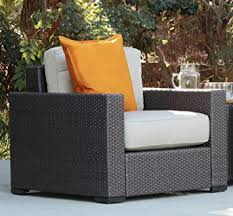 Thick Patio Furniture Cushions Amazon Com Serta Outdoor Collection Arm Chair With Thick 6 Inch