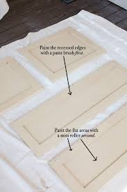 can you paint cabinets with a roller kitchen cabinet makeover how to paint cabinets the