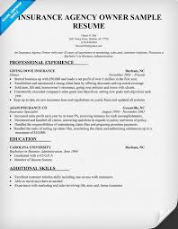 Business Owner Resume Example by Insurance Agency Owner Resume Sample Carol Sand Job Resume