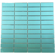 1 u0027 u0027 x 3 u0027 u0027 aqua glass uniform brick tile glossy p250