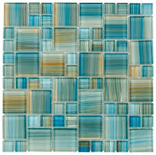 Kitchen Backsplash Samples by Glass Mosaic Tile Aquarella Aqua Glass Mosaic Tiles Spa Shower