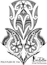 chicktattoo polynesian flower flash design marquesan