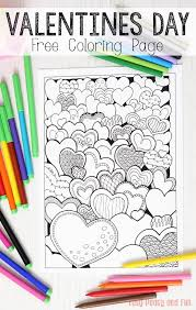 hearts valentines coloring adults easy peasy fun