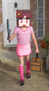 party city halloween costumes minecraft this just gave me an idea to cosplay my own minecraft skin xd