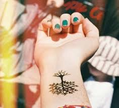 tree design on wrist fashion tree