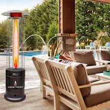 Lava Heat Italia Patio Heater by Lava Heat Cylindrical Commercial Flame 51 000 Btu Patio Heater