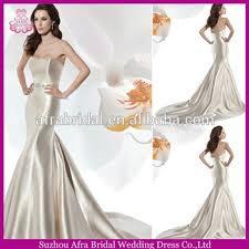 sd939 champagne satin mermaid korean style wedding dress trumpet
