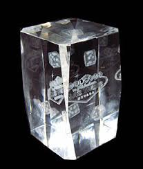 Crystal Souvenirs Laser Etched Crystal Las Vegas Small