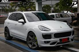 porsche cayenne blacked out white porsche cayenne adv6 m v2 sl wheels polished smoked