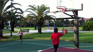 jaden playing basketball at the park youtube