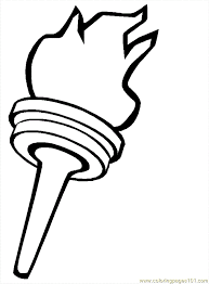 olympic torch coloring coloring