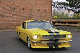 1965 yellow mustang 1965 ford mustang fastback by steve barham cars zone